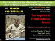Arnold Fruchtenbaum -  Sequence of Pre-tribulation Events - 2 of 15