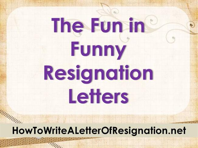 The fun in funny resignation letters authorstream altavistaventures