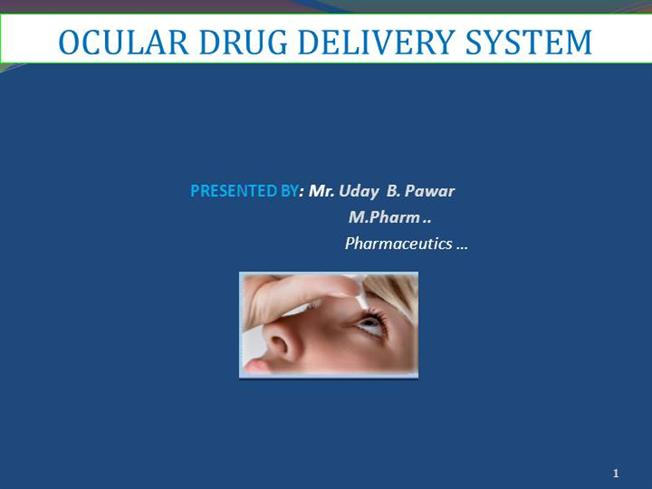 Thesis on ocular drug delivery