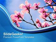 BUSINESS THEME OF SPRING BEAUTY OF NATURE PPT TEMPLATE