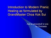 Introduction to Modern Pranic Healing