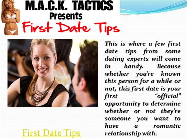 Dating tips for your first date