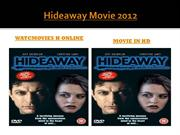 Watch  Hideaway Movie   HD Free Online