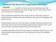 Meldrum The Mover For Long Distance Moving in Canada