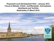 Cleish Proposed Local Development Plan 21 March 2012