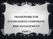 INTRODUCTION TO RISK MANAGEMENT FRAMEWORK