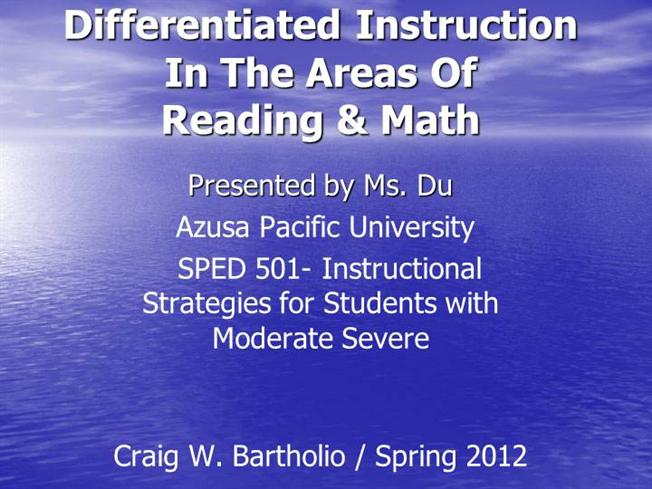 Differentiated Instruction Ppt Authorstream