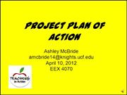 Project Plan of Action amcbride14