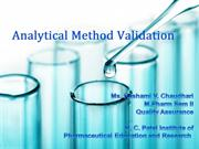 Analytical Method Validation