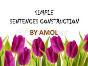 SIMPLE SENTENCES CONSTRUCTION
