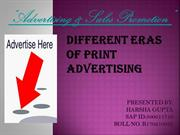Different eras of print advertisement