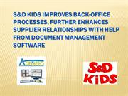 Ademero Customer Success Story of S&D Kids