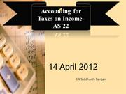 AS 22 Deferred Taxes