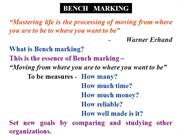 BENCH-MARKING