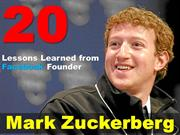 20 lessons from Zuckerberg