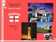 English Project 5: England