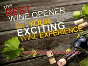The Best Wine Opener for Your Exciting Wine Experience