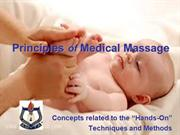 Introduction to the Principles of Medical Massage
