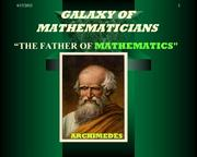 GALAXY OF MATHEMATICS