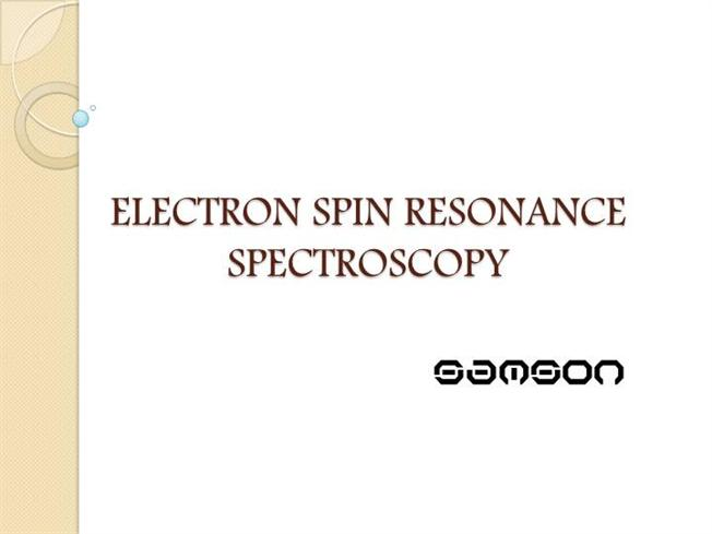 How does electron spin resonance hookup work