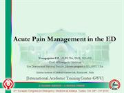 Copy of Acute pain in ED
