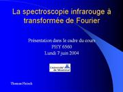 La spectroscopie infrarouge %E0 transform%E9e de Fourier