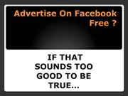 Advertise On Facebook Free pp