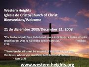 Bilingual Praise & Worship-12/21/08