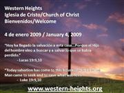 Bilingual Praise & Worship-01/04/09