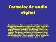 Formatos de audio digital