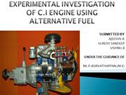 c.i engine alternate fuel