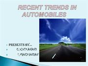 RECENT TRENDS IN  AUTOMOBILES