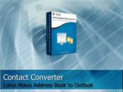 Best Lotus Notes Contacts Converter