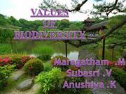 Values of Biodiversity