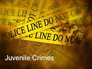 New Jersey Juvenile Crimes Attorney