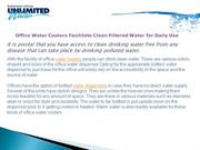 Office Water Coolers Facilitate Clean Filtered Water for