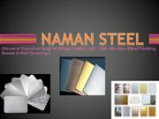 Designer range of stainless steel cladding and wall coverings in metal