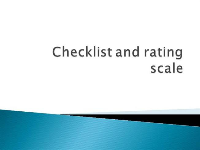 Checklist And Rating Scale (2) |authorSTREAM