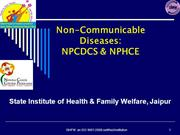 Non-Communicable Diseases-Introduction