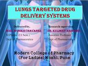 LUNGS targeted drug delivery systems