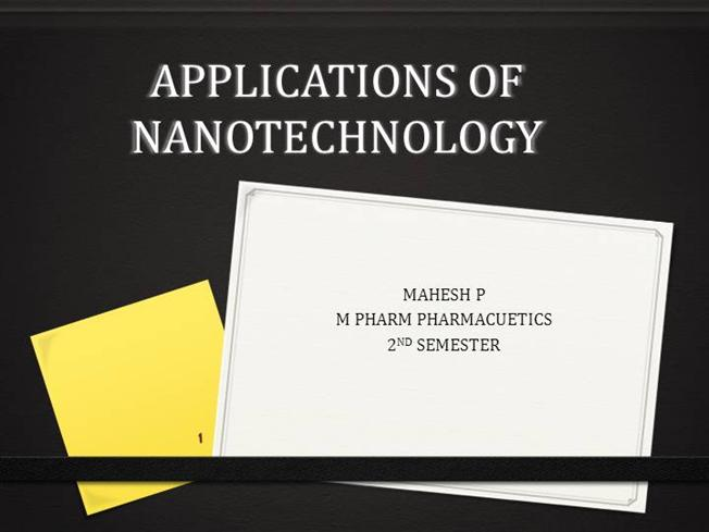 applications of nanotechnology |authorstream, Presentation templates