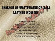 Analysis of wastewater of (A.N.) leather industry