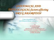 FACTORS EFFECTING ABSORPTION OF DRUG