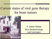Current status of viral gene therapy for Brain tumors