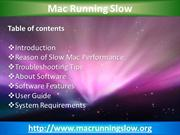 Mac Running Slow - Speed Up Mac in Few Minutes only!
