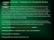 Cleaner in Toronto - Techniques for Cleaning the Kitchen area
