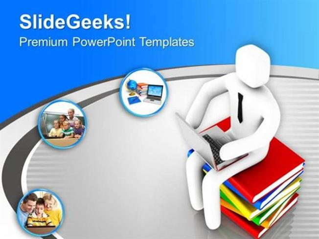 Business Think About The Online Education Ppt Template Powerpoint