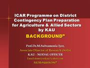 Background of ICAR-DCP.Iyer.08.06