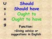 should and ought to grammar