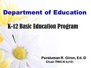 K-12 Basic Education Program - geron version